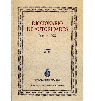Diccionario de autoridades. Tomo IV.