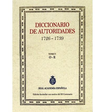 Diccionario de autoridades. Tomo V.
